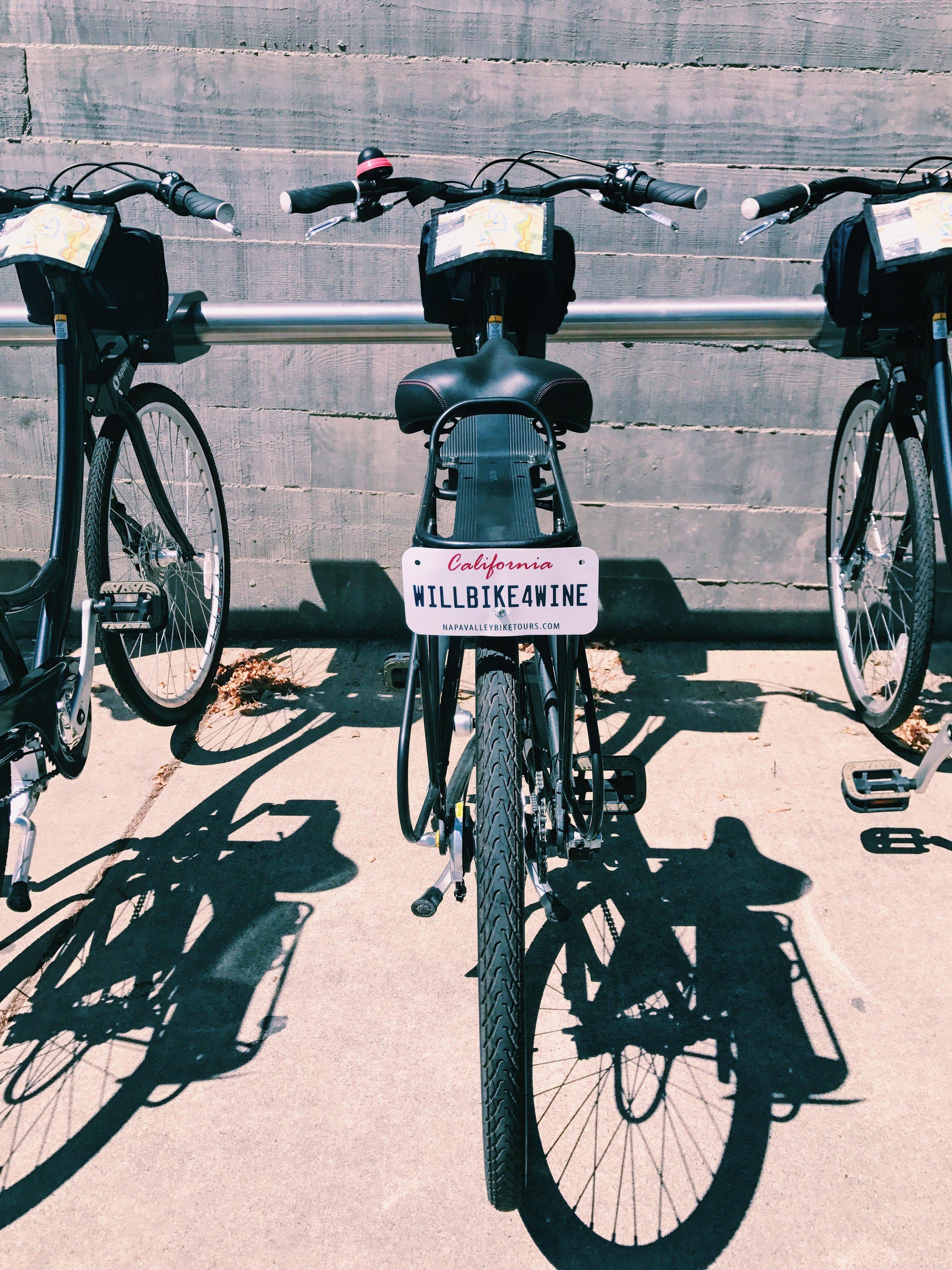 will bike for wine