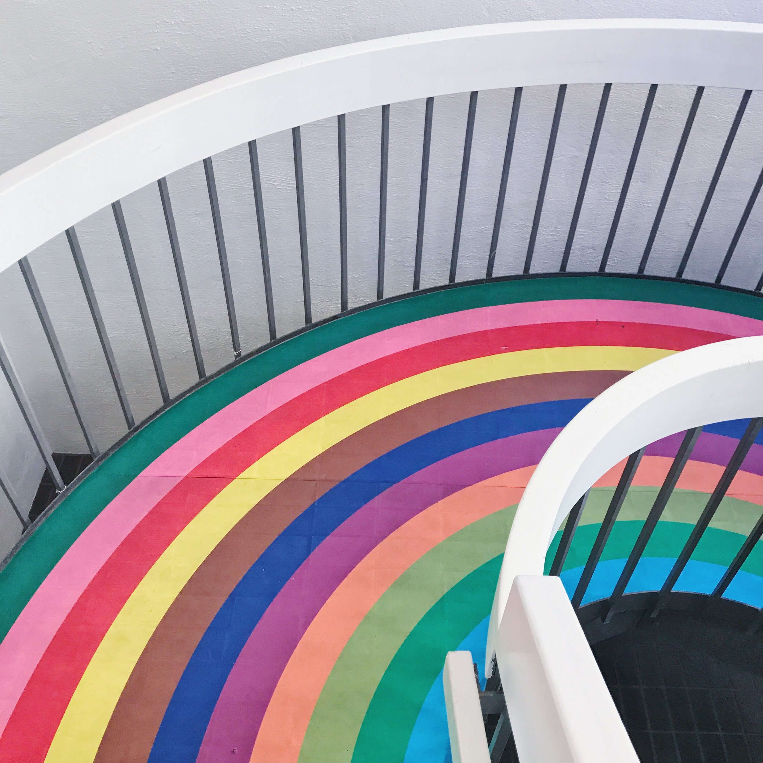 rainbow stairs a color factory