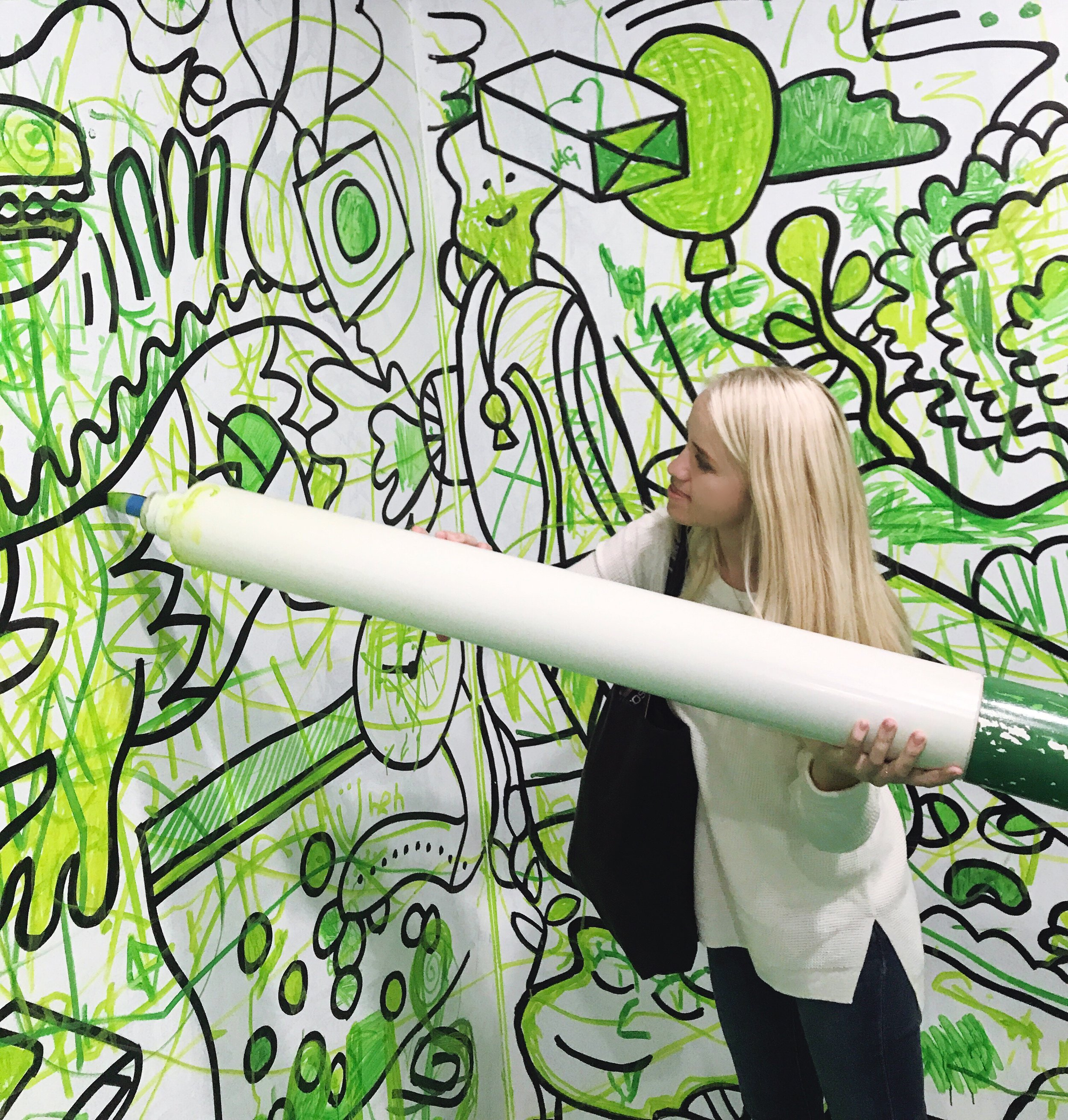 green coloring book room