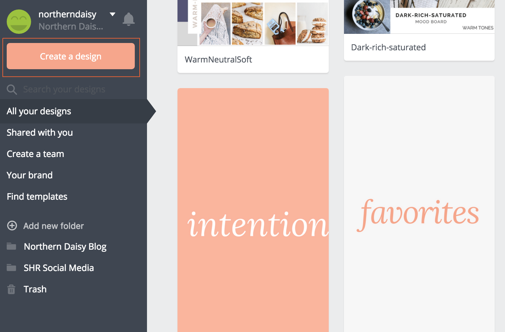 create a canva design social media