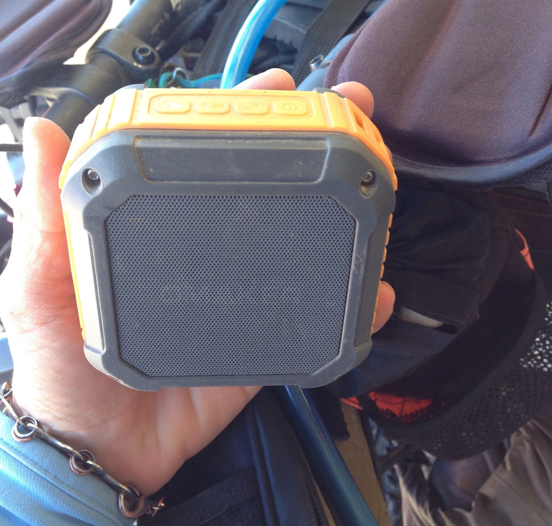 One of the super important things I keep charged with just the generator hub; no backup battery needed.