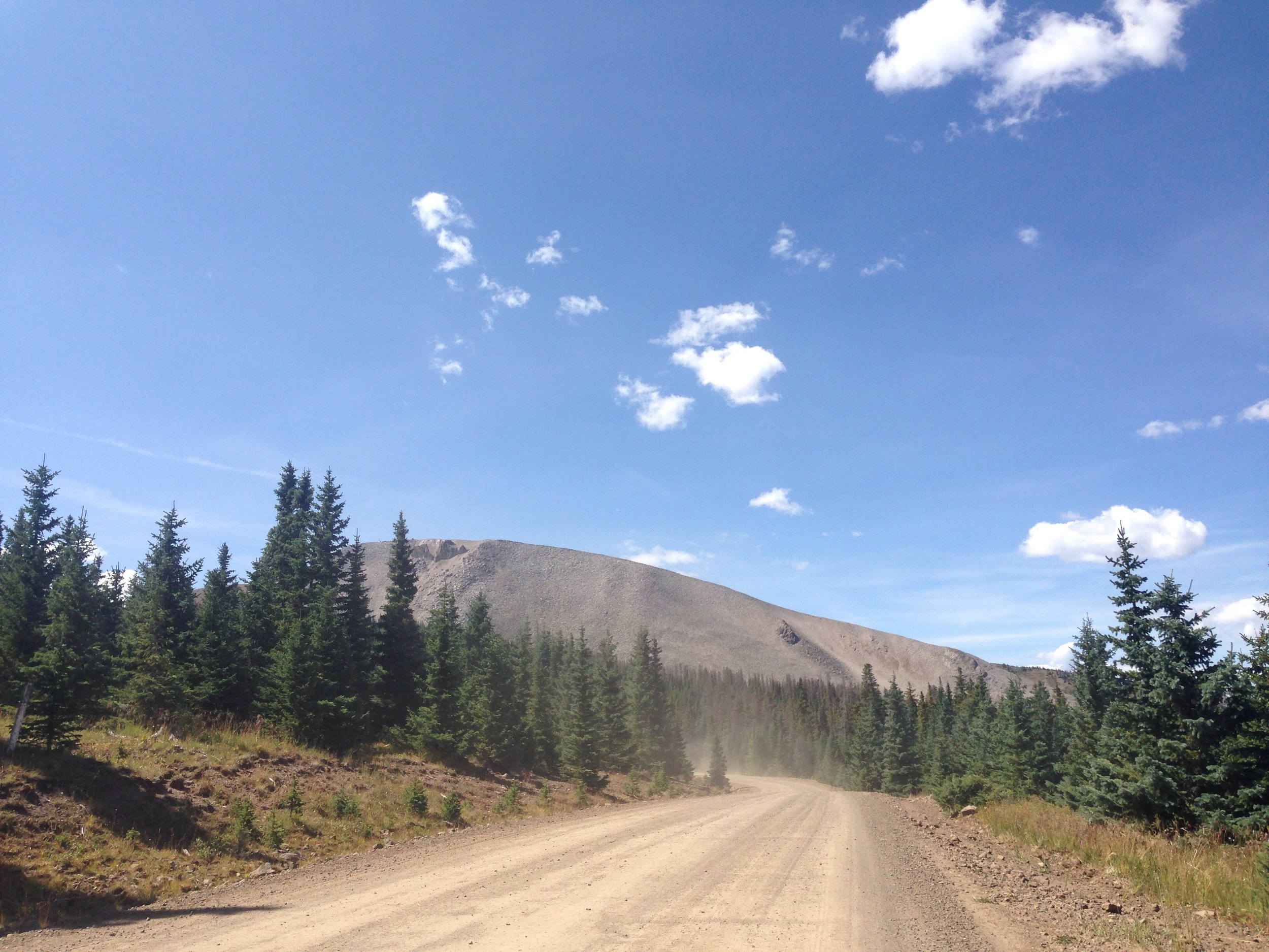 Road going up Indiana pass. Buttery.