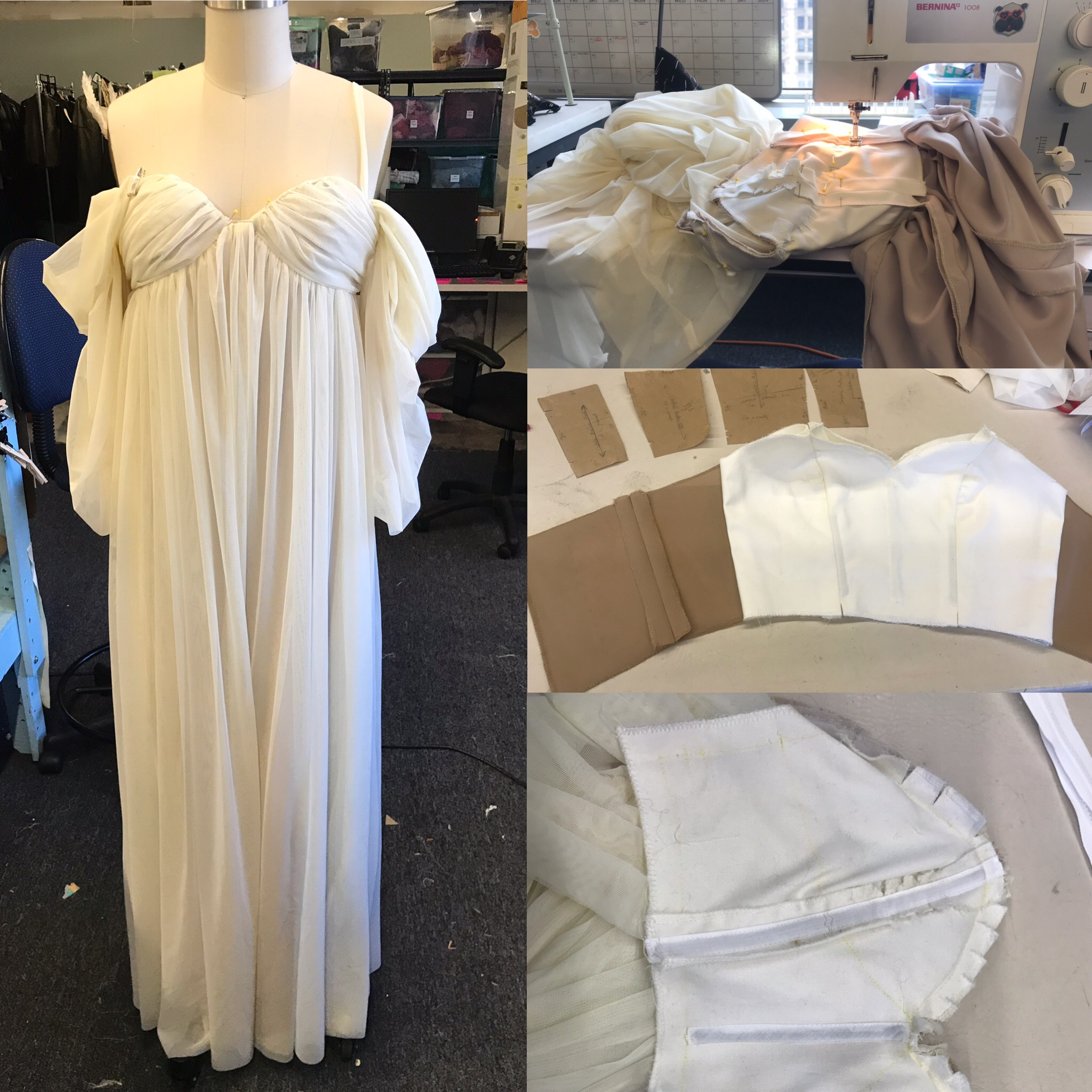 Mary Shelly Dress- Mary Shelly's Frankenstein- Lookingglass Theatre Company 2019  Costume Design by Sully Ratke. Draping by Alice Broughton. Cut by Colleen Taylor.