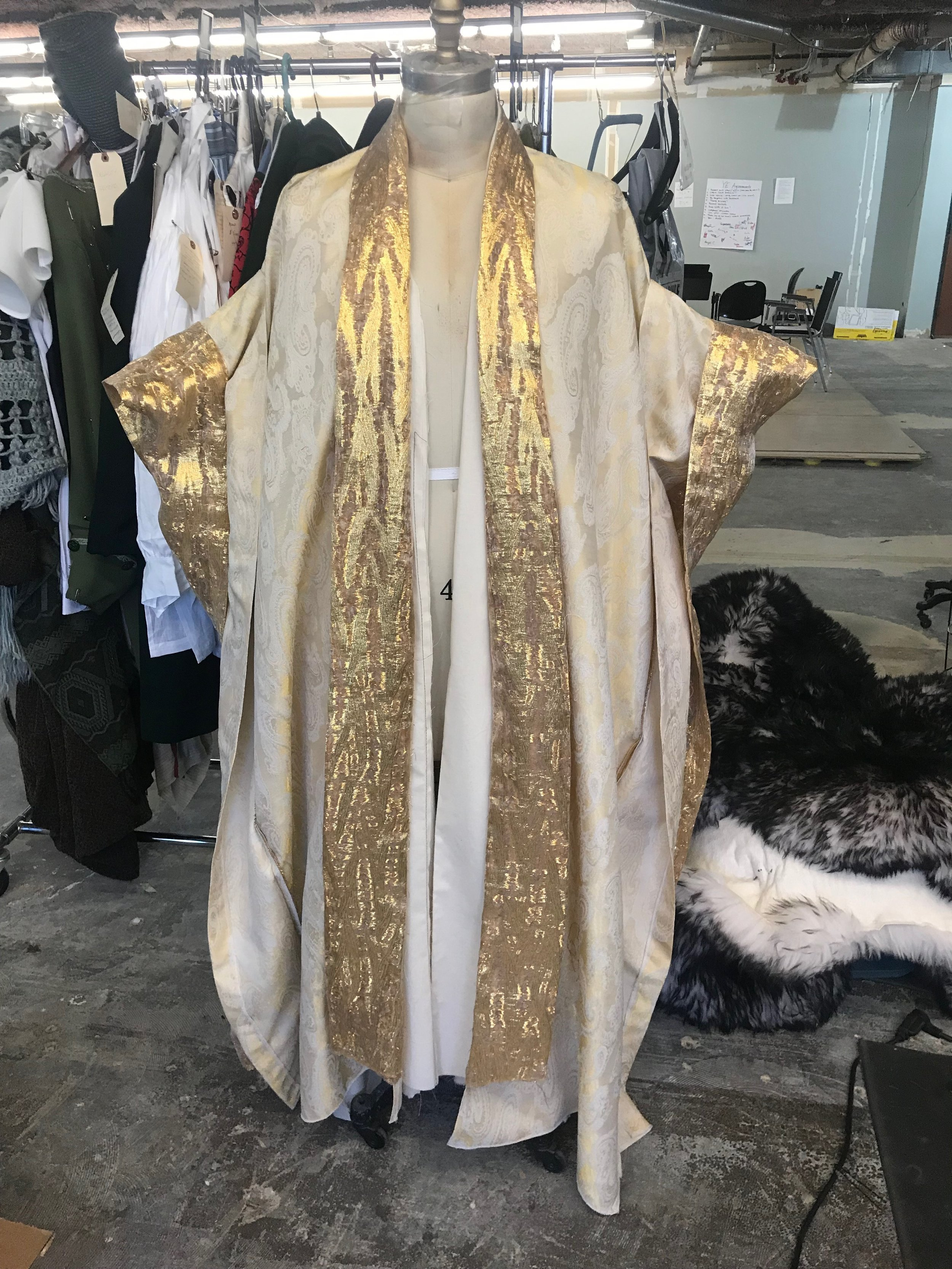 Angel of Death Robe-  Mary Shelly's Frankenstein- Lookingglass Theatre Company 2019  Costume Design by Sully Ratke. Draping by Angela Enos. Cut by Colleen Taylor.