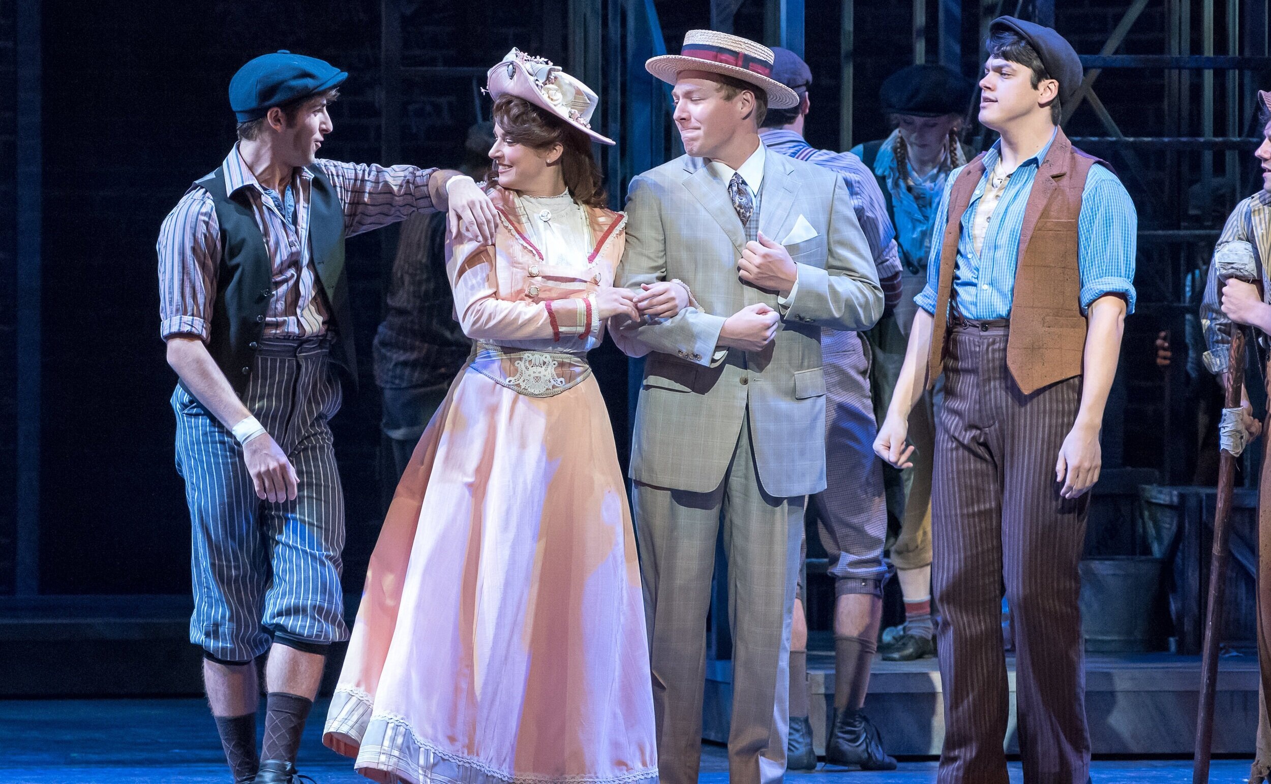 Katherine Walking Hat- Newsies!- Music Theatre Wichita 2017  All designs by the seasonal staff of MTW. Photos courtesy of Christopher Clark and Jerry Fritchman.