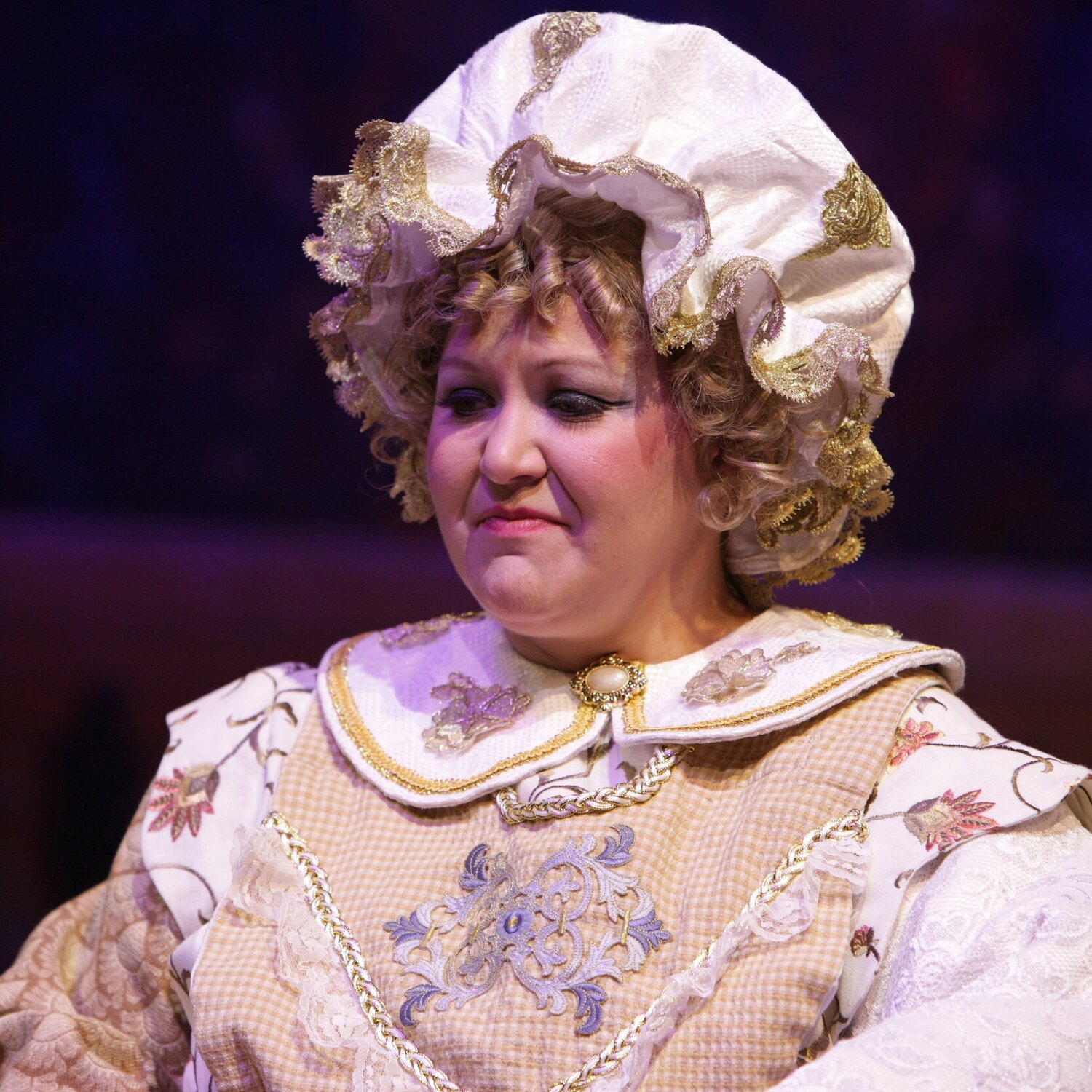 Mrs. Pott's Soft Hat- Beauty and the Beast- Music Theatre Wichita 2016  Costume Design by Tiia Torchia Lager. All designs by the seasonal staff of MTW. Photos courtesy of Christopher Clark and John Fritchman.