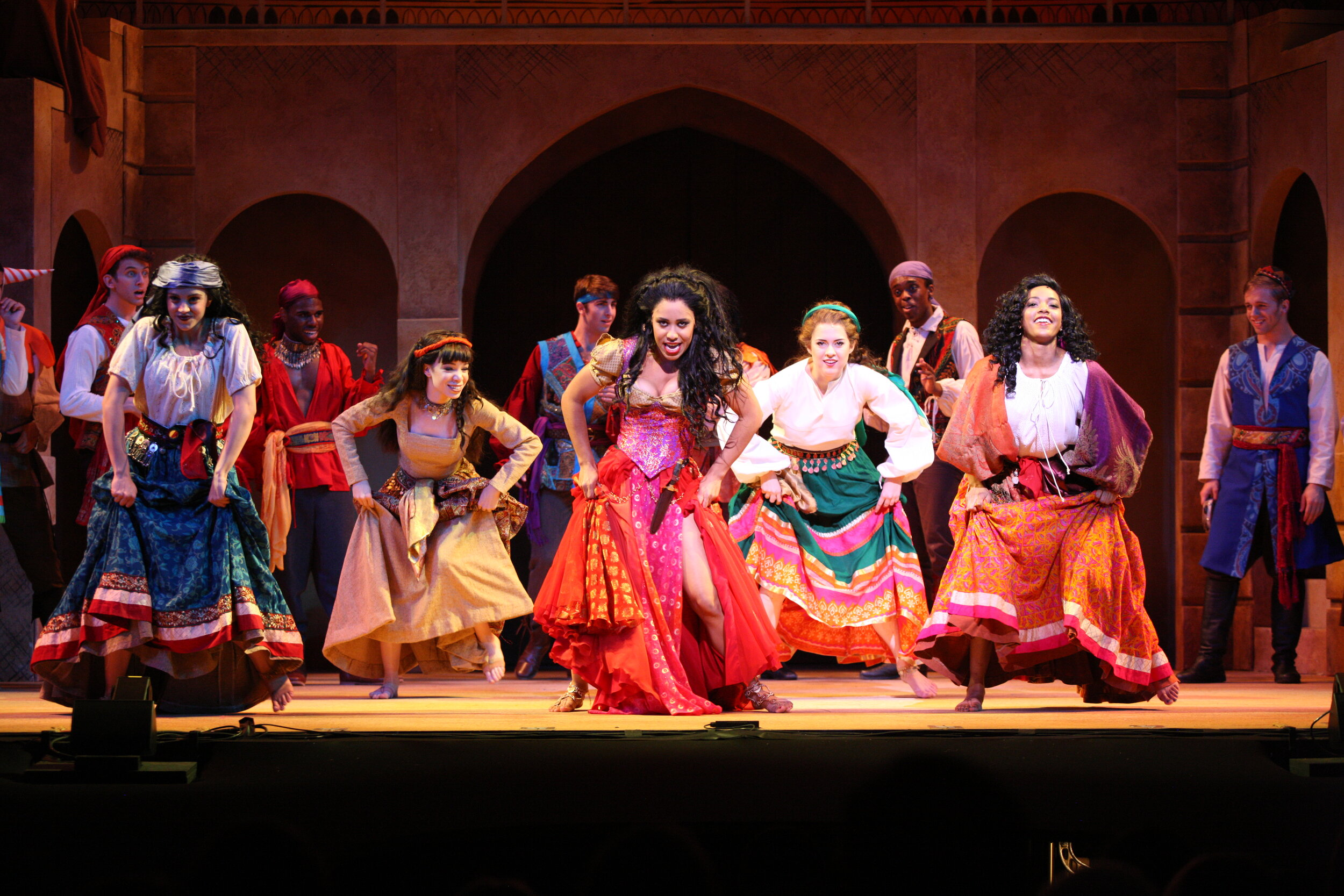 Gypsies Headwear- Hunchback of Notre Dame- Music Theatre Wichita 2017  Costume Design by George T Mitchell. All designs by the seasonal staff of MTW. Photos courtesy of Christopher Clark and John Fritchman.