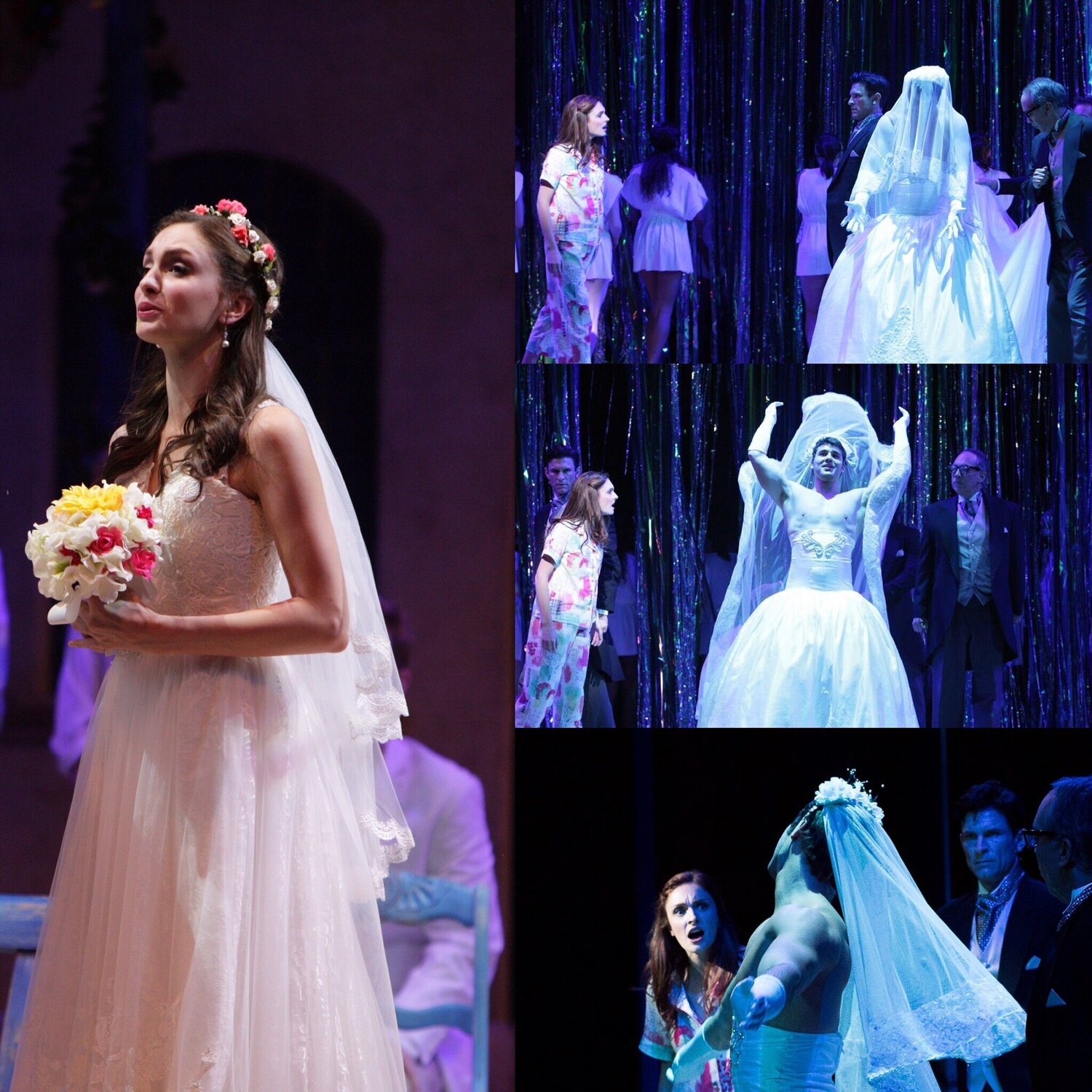 Sophie and Sky's Veils- Mama Mia- Music Theatre Wichita 2016  All designs by the seasonal staff of MTW. Photos courtesy of Christopher Clark and John Fritchman.