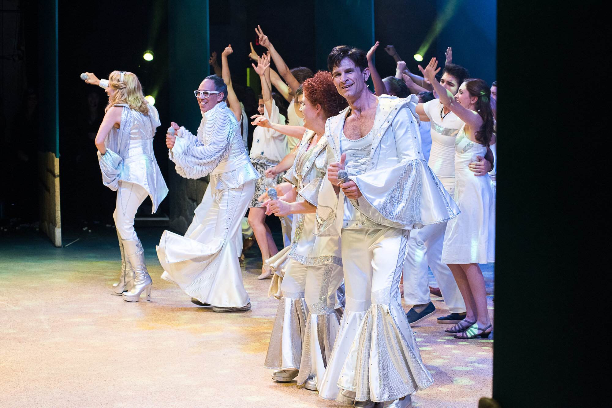 Finale Megamix Shoes- Mama Mia- Music Theatre Wichita 2016  All designs by the seasonal staff of MTW. Photos courtesy of Christopher Clark and Jerry Fritchman.