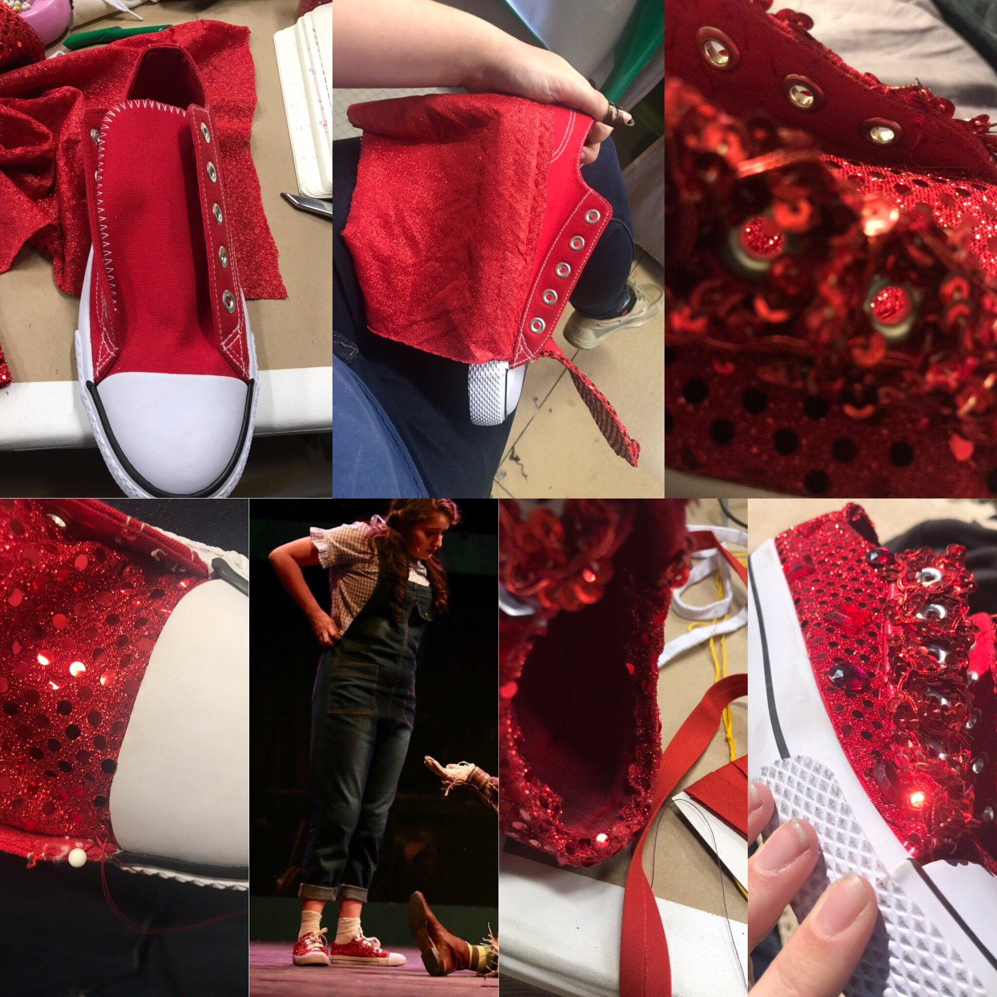 Dorothy's Ruby Chucks-  Wizard of Oz - Creede Repertory Theatre 2018  Costume Design by Asa Benally. All other Designs Courtesy of CRT Summer staff. Show Photo courtesy of John Gary Brown.