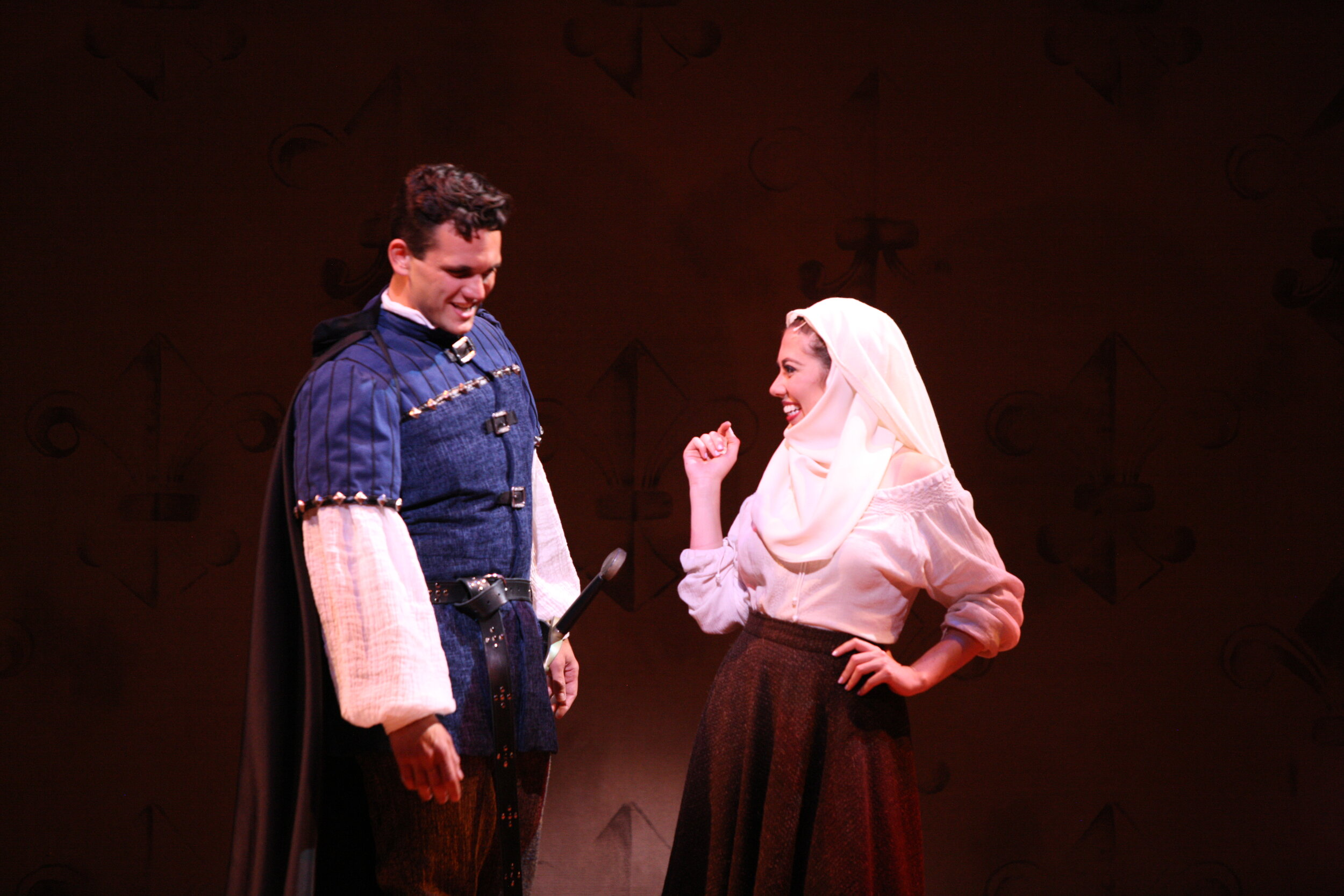 Pheobus' Doublet(Dyework)- The Hunchback of Notre Dame -Music Theatre Wichita 2017  Costume Design by George T Mitchell. All other designs by the summer staff of MTW. Photos Courtesy of Christopher Clark and Jerry Fritchman.