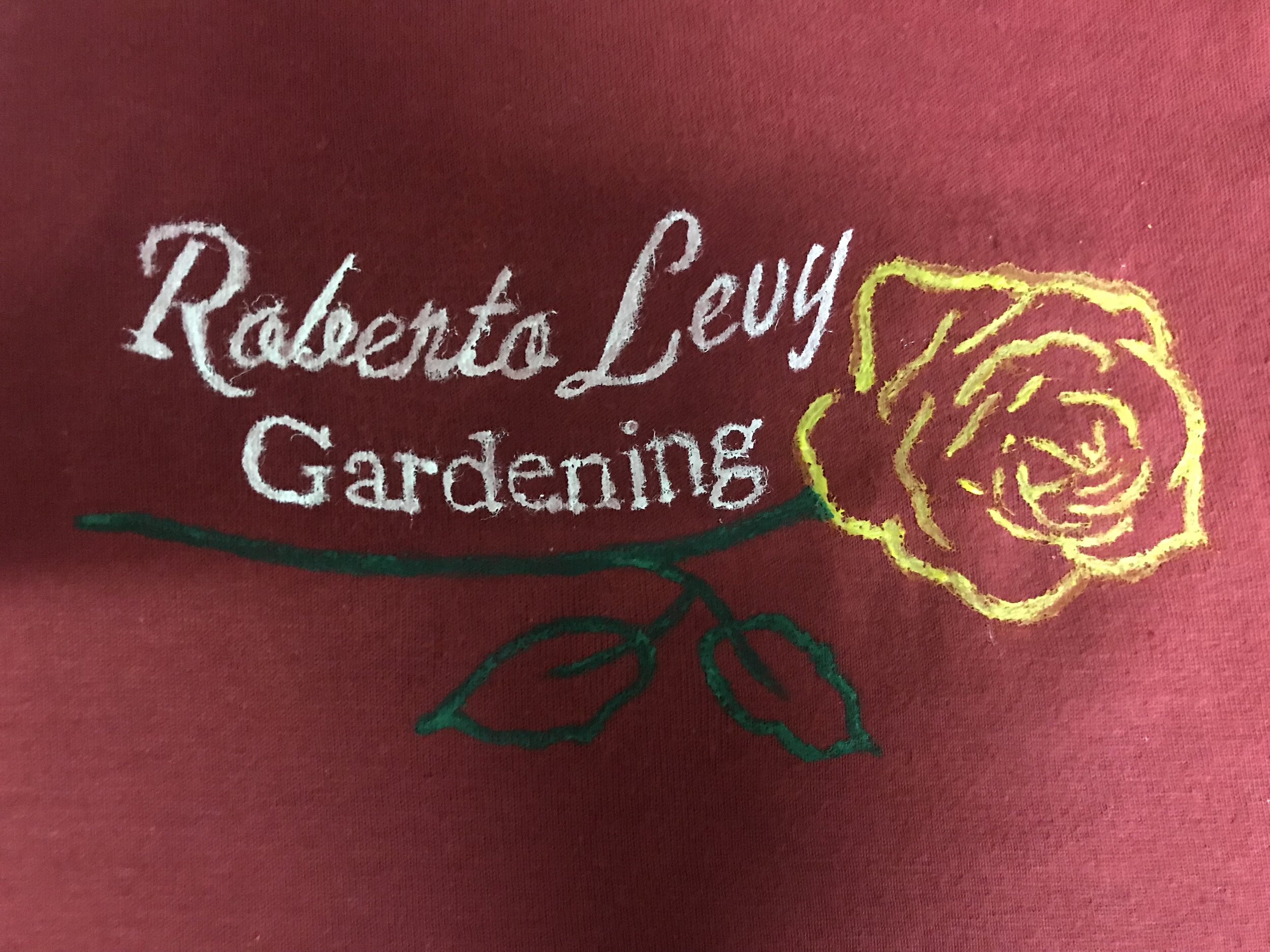 Roberto's Gardening Logo(painted)-  Guadelupe in the Guestroom -Creede Repertory Theatre 2018  Costume Design by Celia Kasberg.
