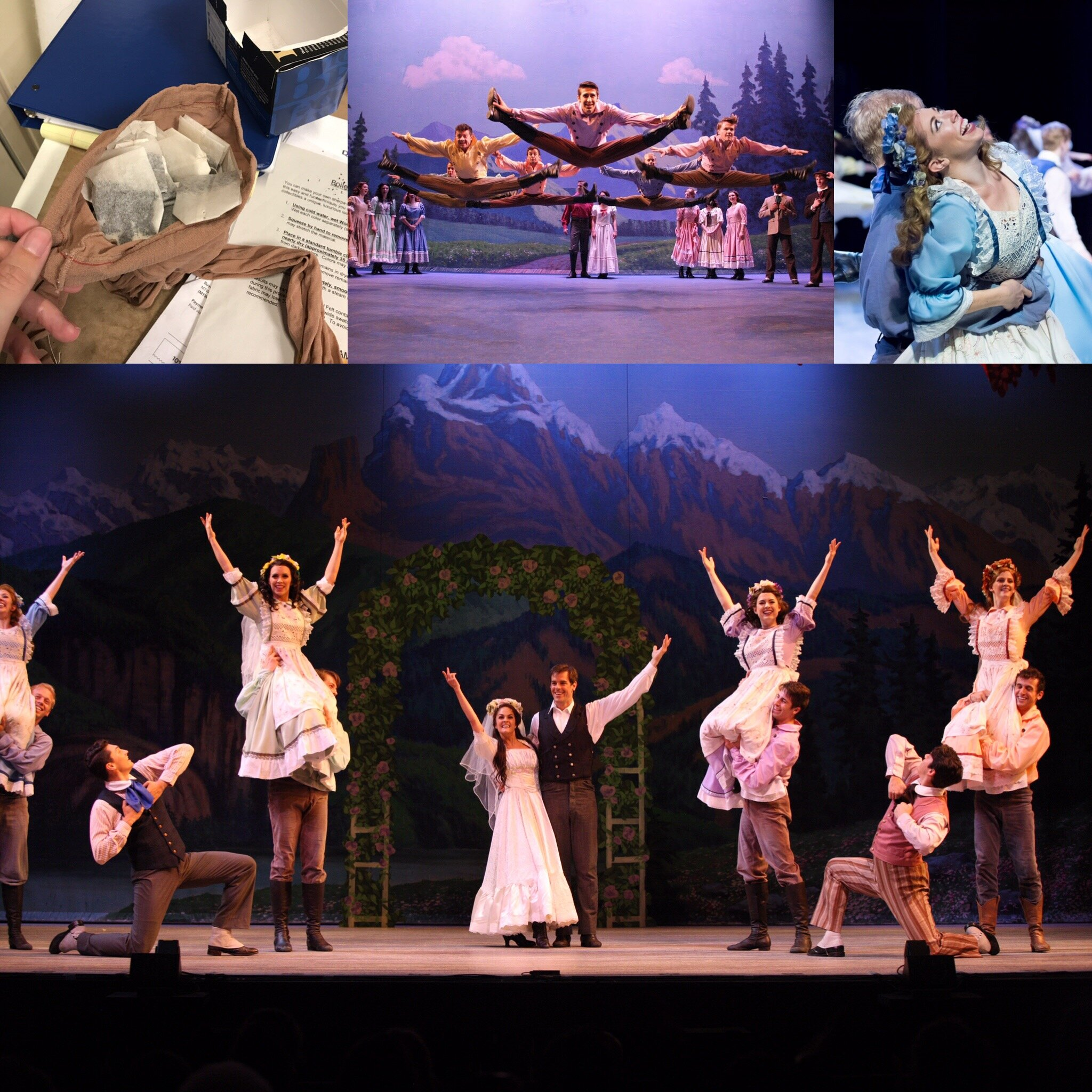 Wedding Aprons, Brother's Tunics and Pants(Dyework)- 7 Brides for 7 Brothers -Music Theatre Wichita 2017  Costume Design by Debbie Roberts. All other designs by the summer staff of MTW. Show Photos Courtesy of Christopher Clark and Jerry Fritchman.