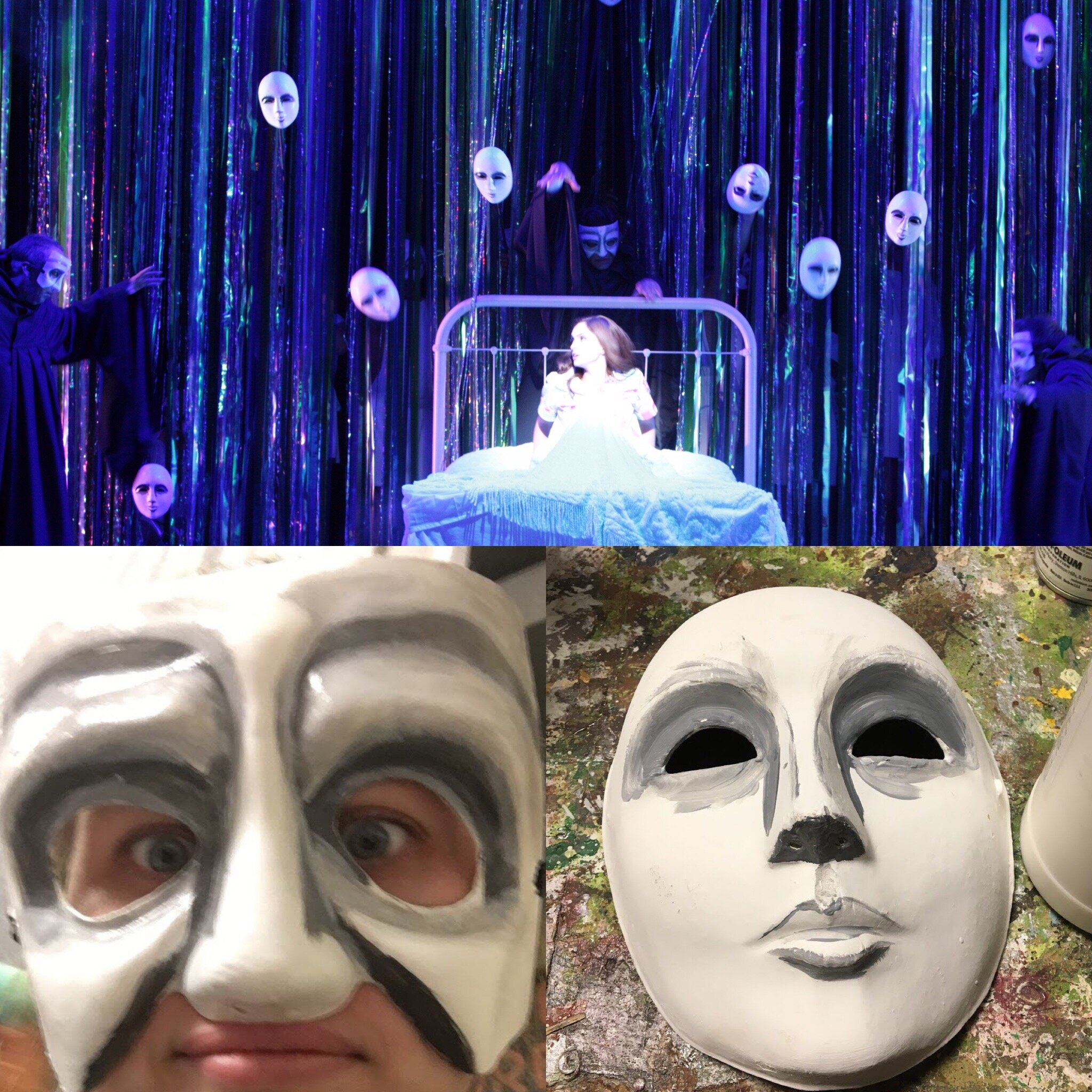 Nightmare Masks(Paint)- Mama Mia -Music Theatre Wichita 2016  All designs by the summer staff of MTW. Photos Courtesy of Christopher Clark and Jerry Fritchman.