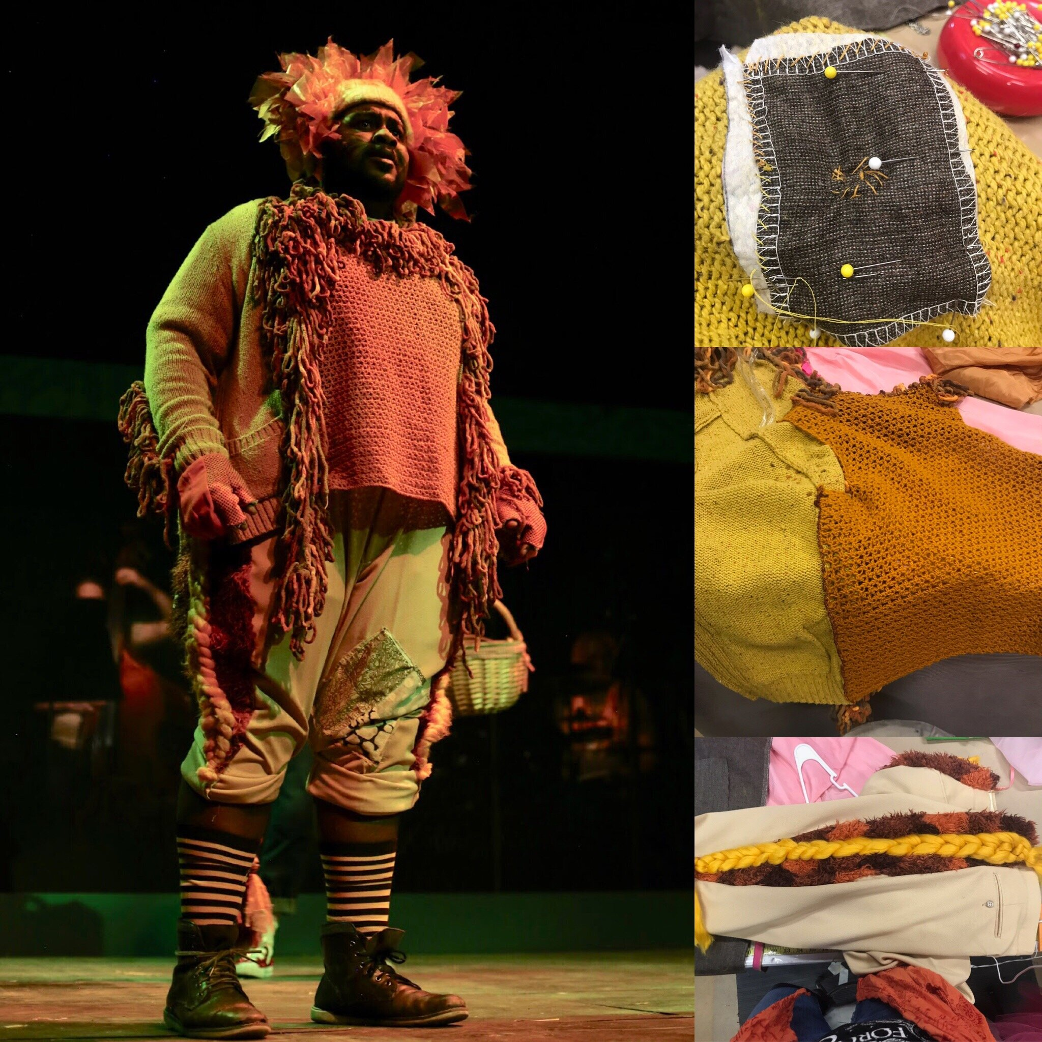 Lion- Wizard of Oz-  Creede Repertory Theatre 2018  Costume Design by Asa Benally. All other designs by the seasonal staff of CRT. Show Photos Courtesy of John Gary Brown.