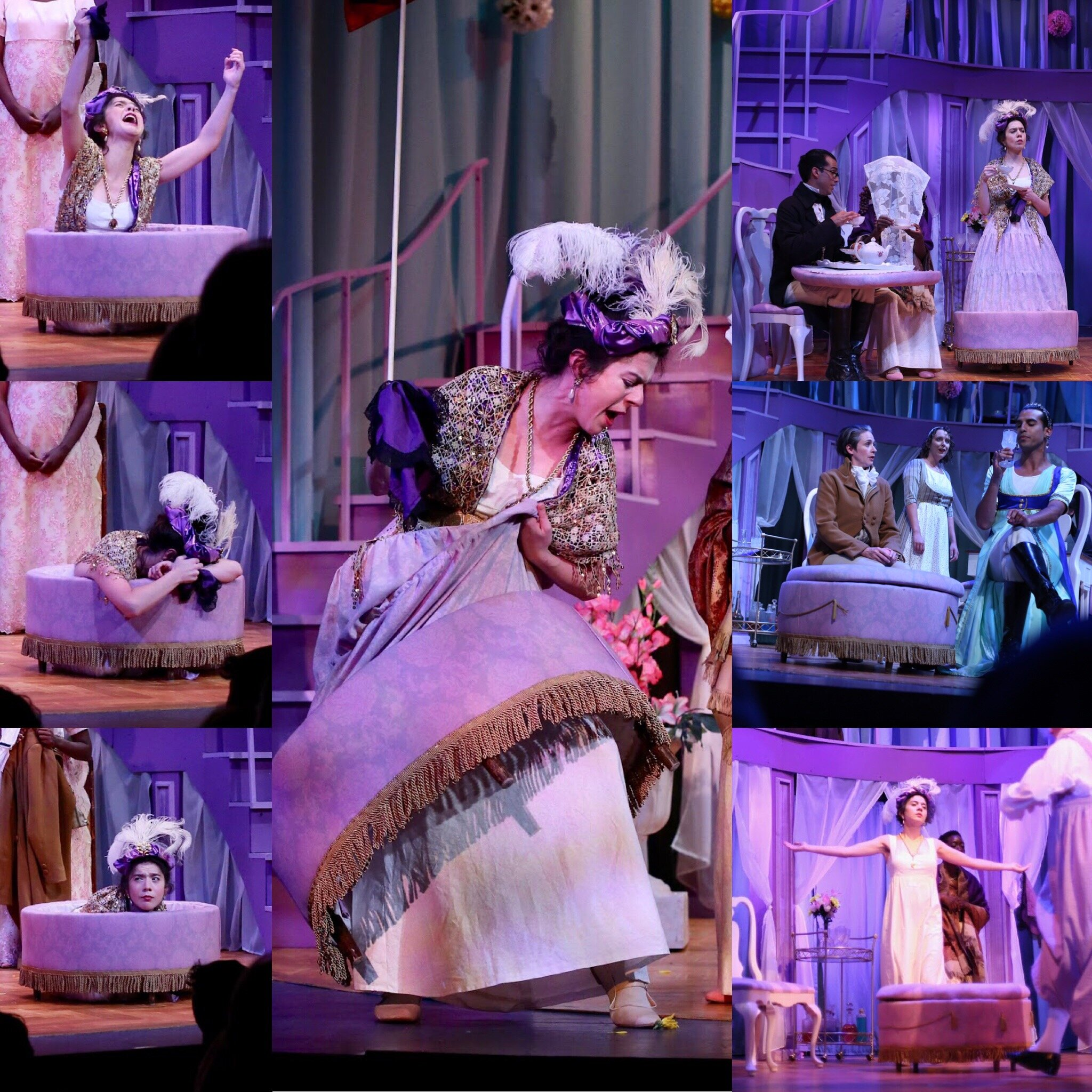 Lady Catherine de Bourgh Ottoman Dress- Pride and Prejudice-  Creede Repertory Theatre 2019  Costume Design by Amy Sutton. All other designs by the seasonal staff of CRT. Show Photos Courtesy of John Gary Brown.