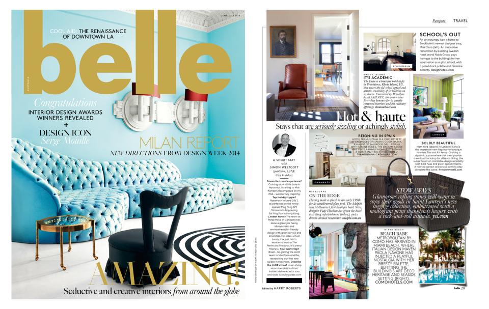 Belle Magazine - June/July 2014, Australia
