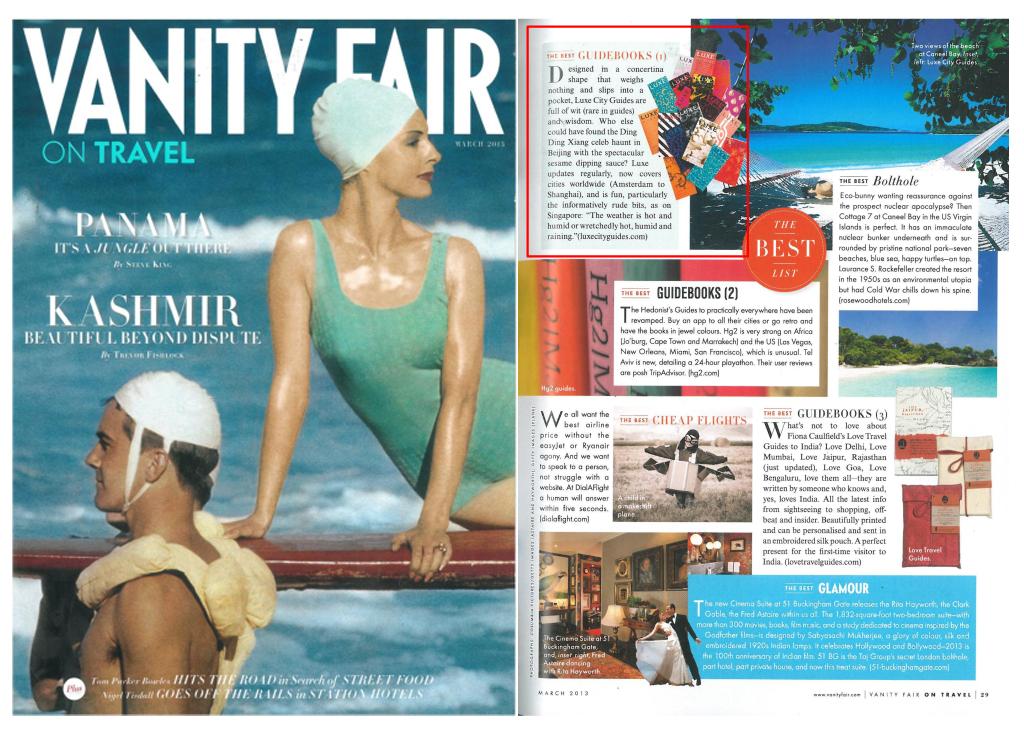 Vanity Fair On Travel UK - February, 2013