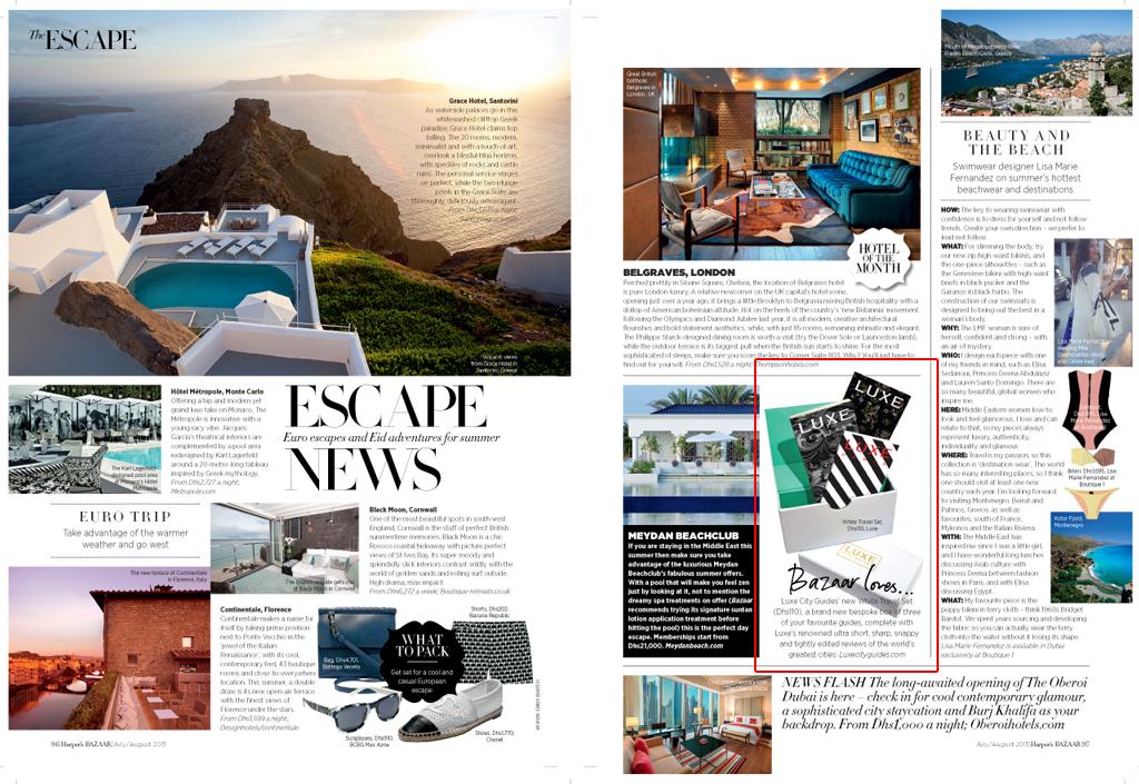 Harper's Bazaar Dubai - July/August, 2013