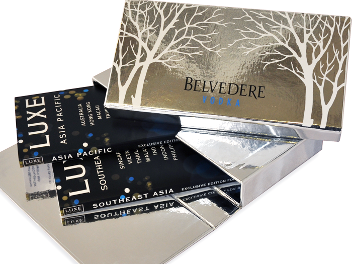 Belvedere - A customised box set with two unique guides both of which featured multiple destinations, LUXE Asia Pacific and LUXE Southeast Asia.