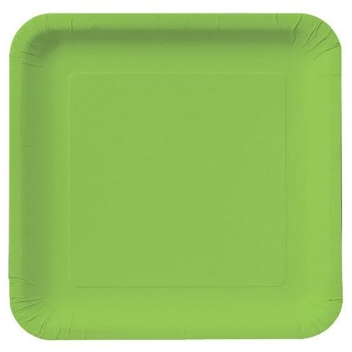 LG. GREEN PAPER PLATE