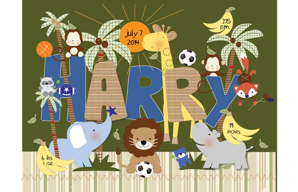 Cutesy creatures to announce the birth of baby Harry…