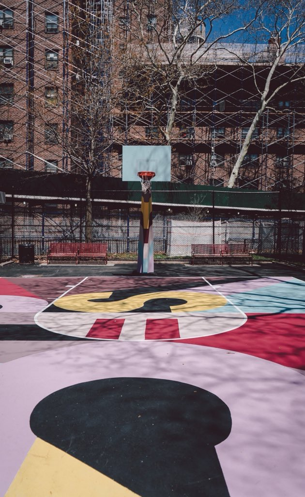 Basketball Court - For this project I helped Jeremyville and his team recreate his artwork to scale digitally for the painters of the court. The project was for Tracy Morgans TV show The Last O.G.. The court is located in Brooklyn, New York with in Gowanus Houses.