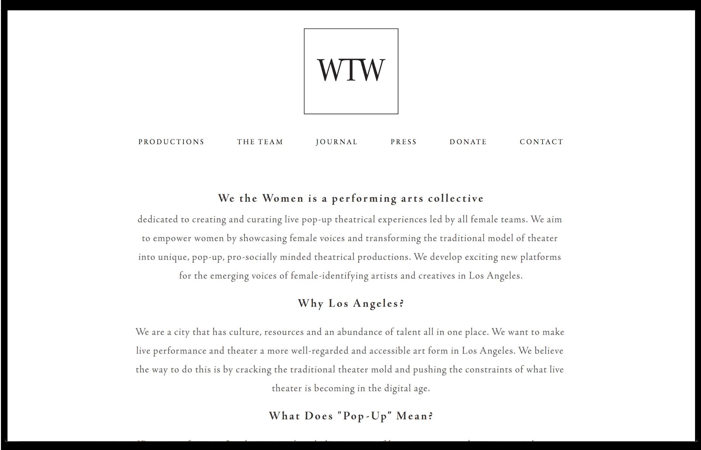 we the women [non-profit]