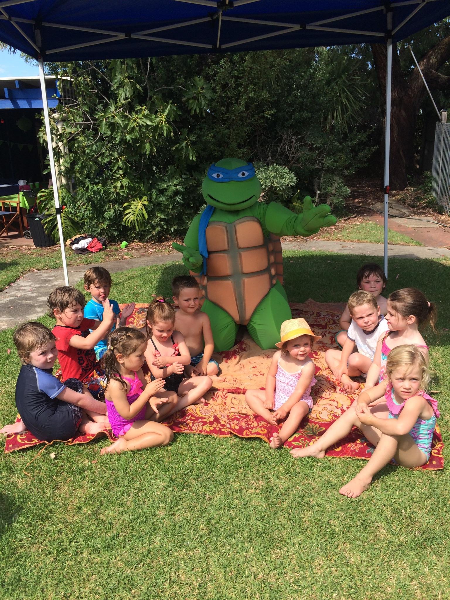 Our special guest visitor Leonardo!
