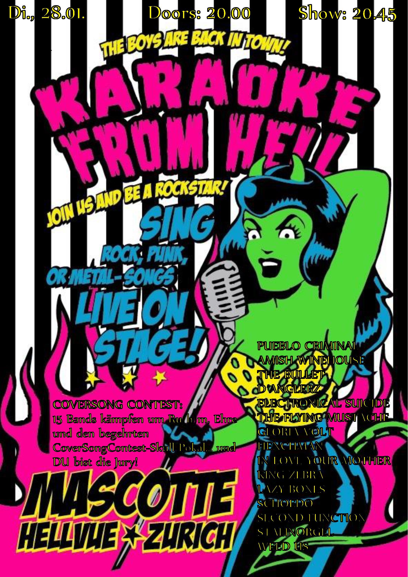 Mascotte Coversong Contest 2014 - Flyer - 28.01.2014 - PUEBLO CRIMINAL