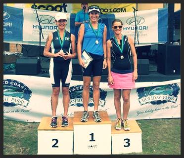Karen Ross - 1st in Age Group, Kingscliff Triathlon