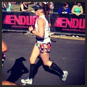 Nicole on her way to a marathon PB!