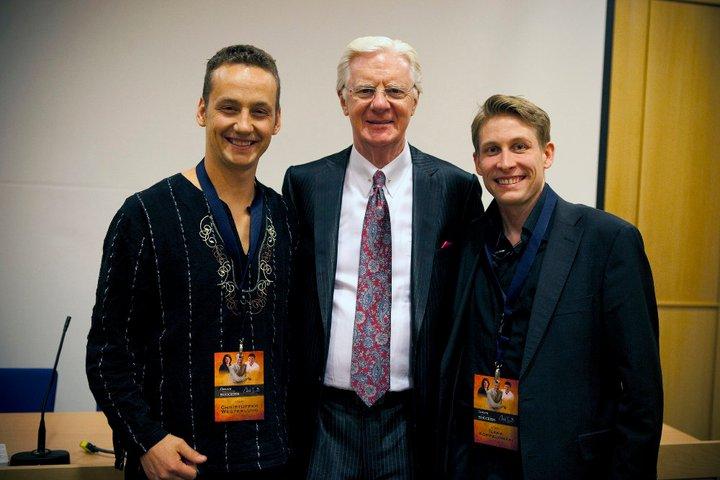 Jokainen hetki Bob Proctorin seurassa oli huikea. Kuvassa vasemmalla Christoffer Westerlund ja oikealla allekirjoittanut.
