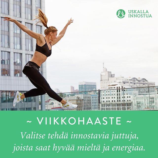 Pieni positiivinen haaste tähän viikkoon: Valitse tehdä innostavia juttuja, joista saat hyvää mieltä ja energiaa! #UIhaaste⠀ ⠀ Kommentoi alle mistä sinä saat energiaa!⠀ ⠀ ⠀ #energia #positiivinenhaaste #viikkohaaste #lisääenergiaa #innostus #innostava #uskallainnostua