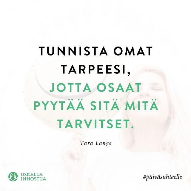 Tästä syystä omien tarpeiden tunteminen on äärimmäisen tärkeää - tykkää jos olet samaa mieltä!⠀ ⠀ ⠀ #parisuhde #suhde #tarve #tarpeet #rakkaus #paivasuhteelle #taralange #uskallainnostua