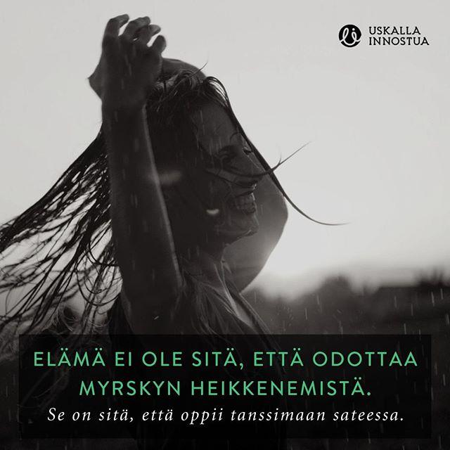 Tykkää jos olet samaa mieltä!⠀ ⠀ ⠀ #sade #elämä #tanssi #tanssiminen #sateessa #tanssia #enjoylife #nautielämästä #uskallainnostua