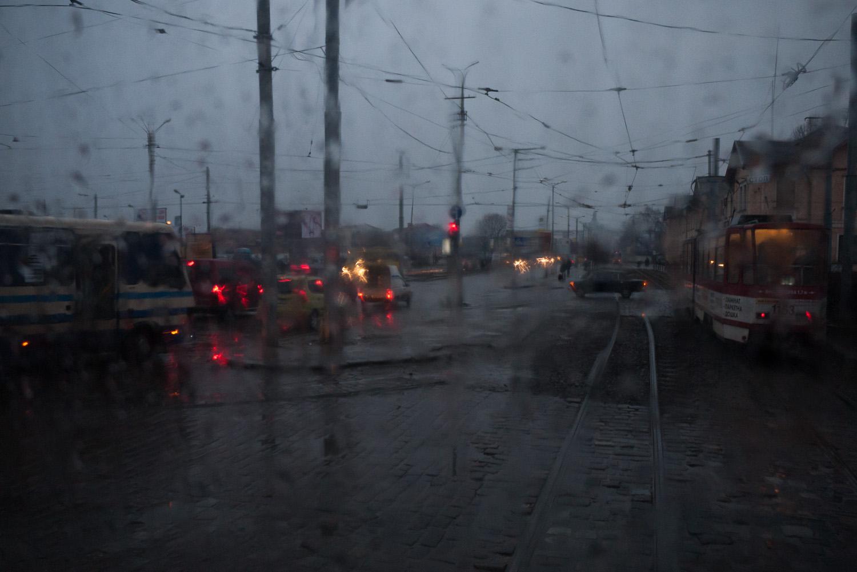 Near the train station, Lviv.