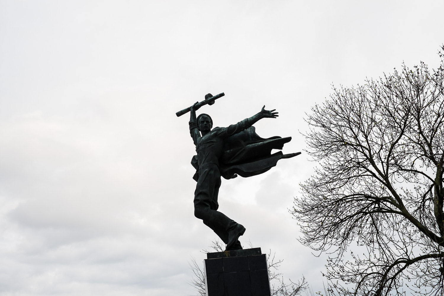 A statue in the town of Vilkovo.