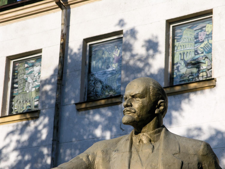 A statue of Lenin in the grounds of a sanatorium near Odessa.