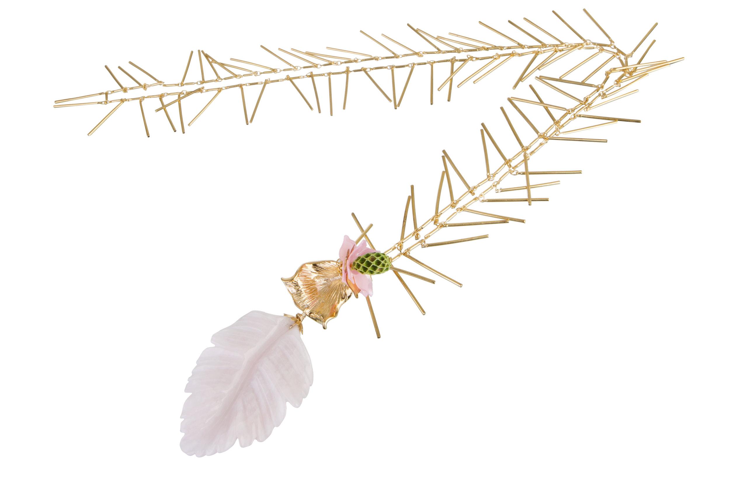 GoldenStrawPinkLeafNecklace.jpg