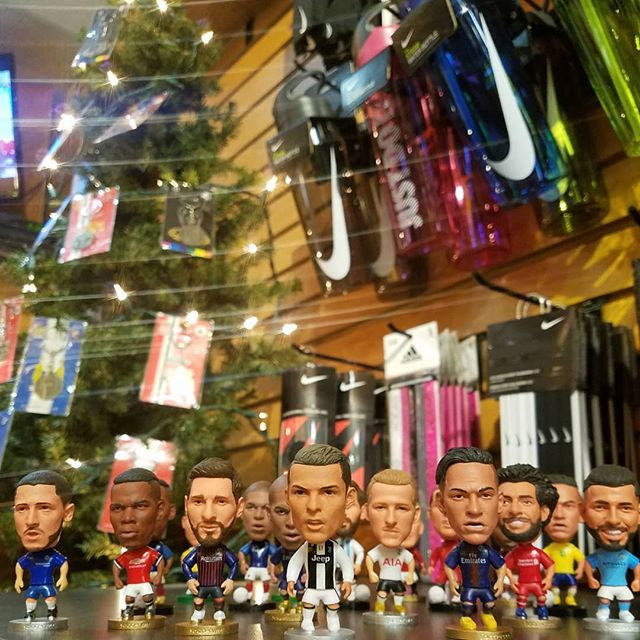 Our little soccer figurines are back! Collect all your favorites like #Ronaldo, #Messi, #Pogba, #Neymar, #Mbappe, #Salah and more! We even have some throwback legends of the game... come visit us today to see them all at The Soccer Shop!