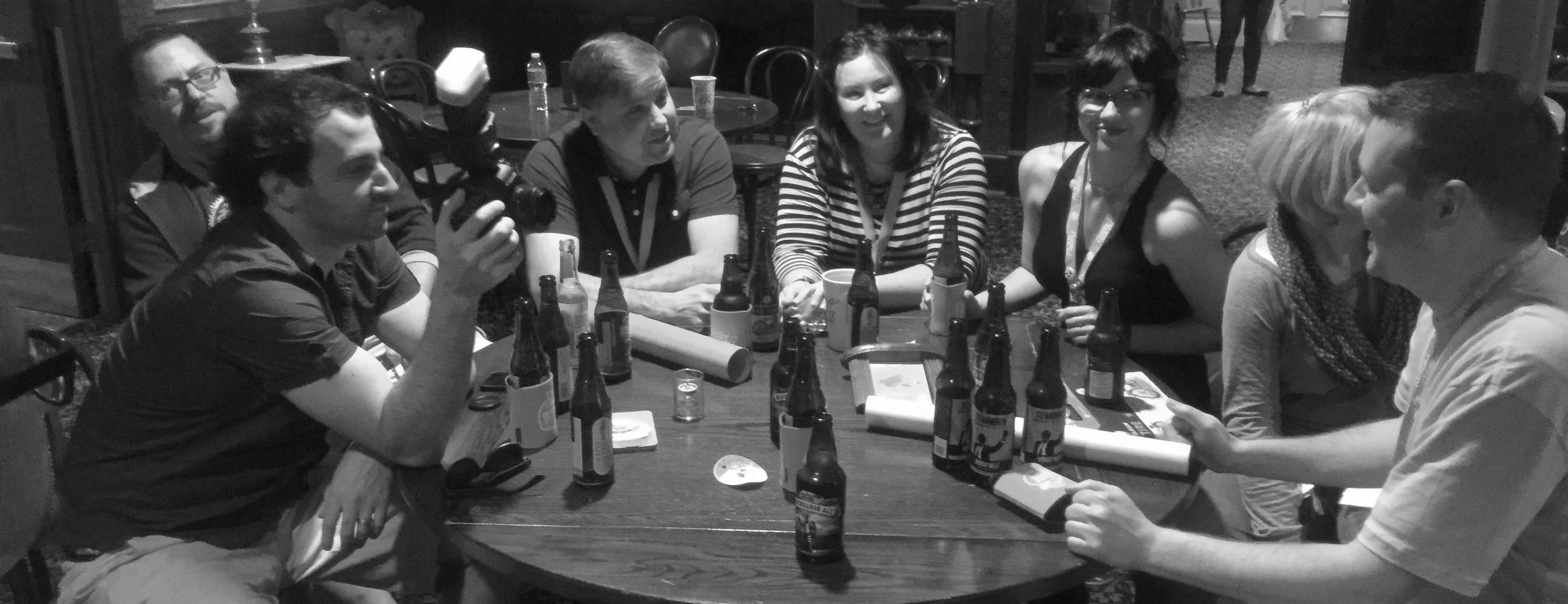 An impromptu workshop/ tasting session.