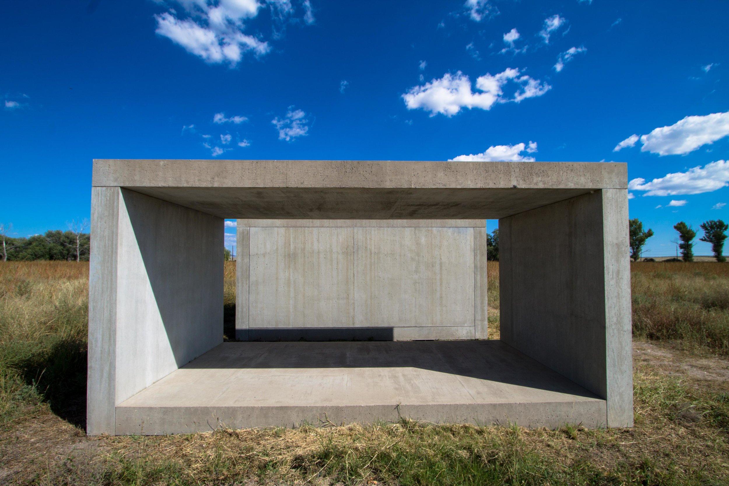Donald Judd, concrete sculptures, 1980-1984.