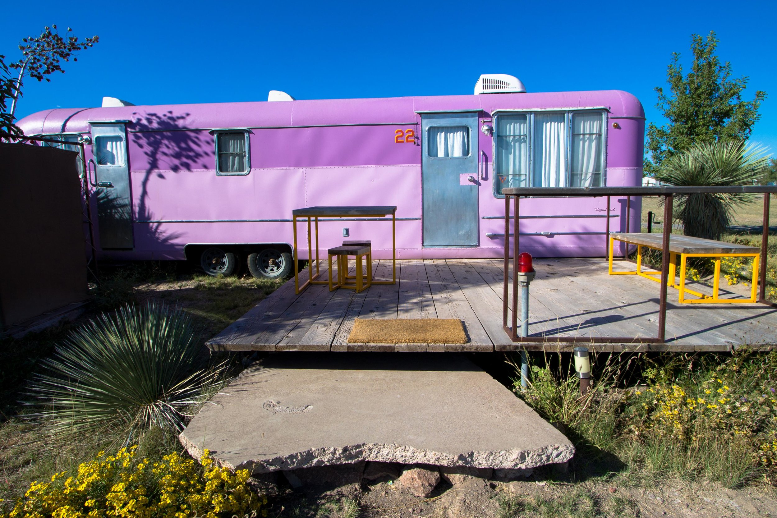 One of many vintage trailers at El Cosmico.