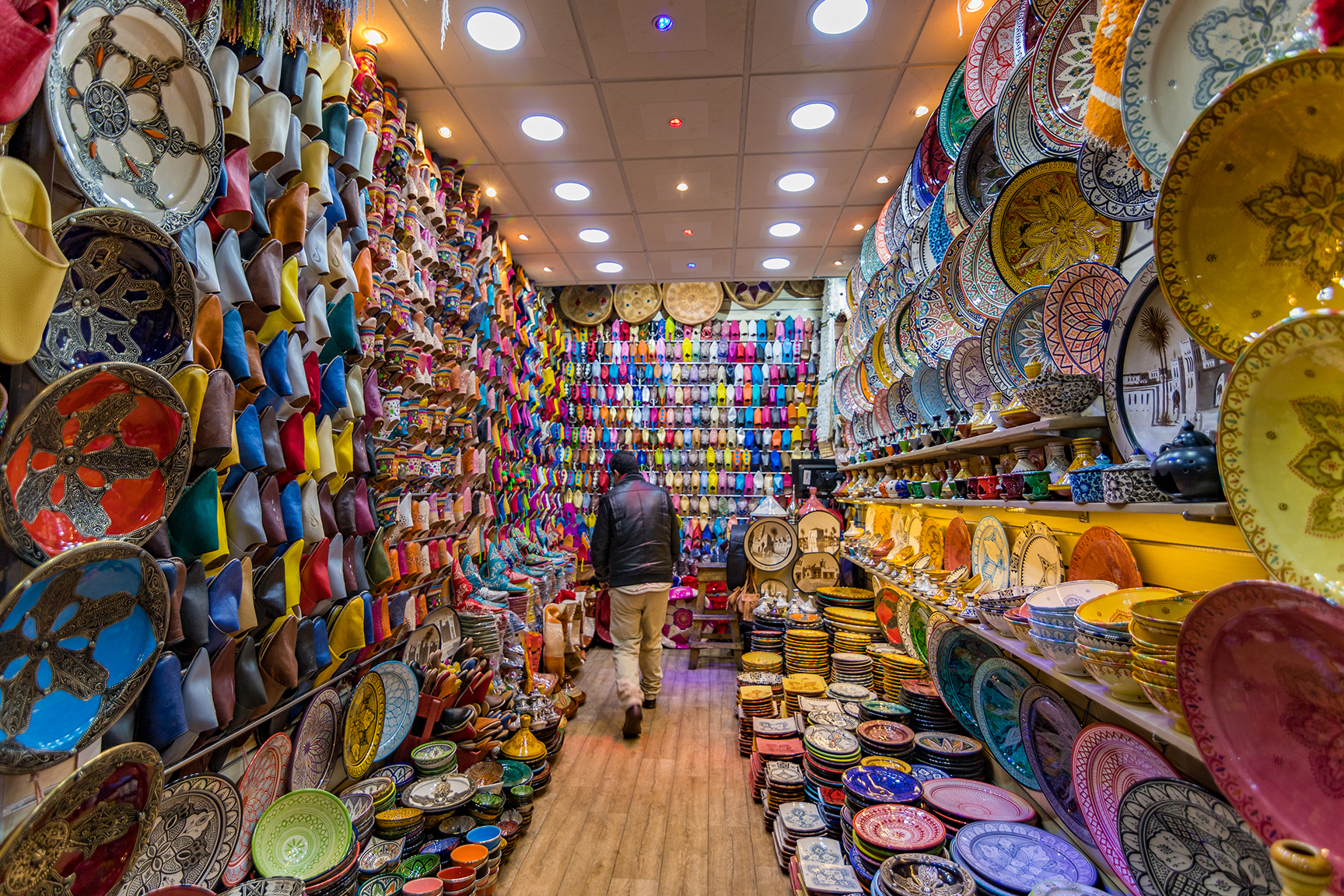 The colorful markets of Marrakesh.