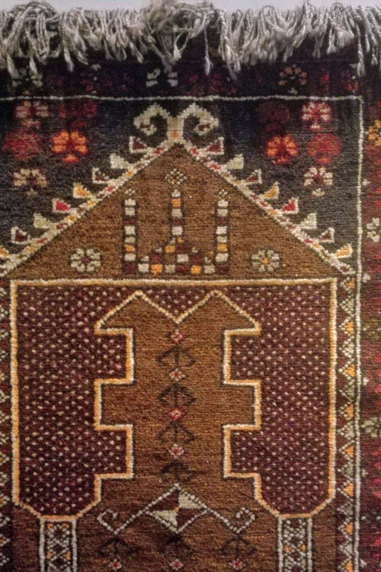 Afghan prayer rug detail (2018/B4)