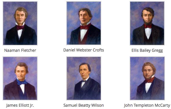 """The """"Immortal Six"""" - Phi Gamma Delta's original founders."""