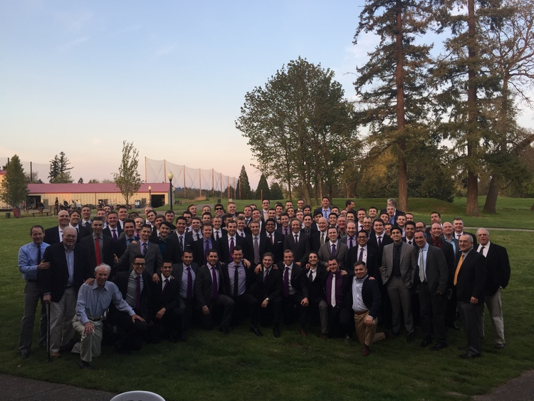 30 Graduate Brothers joined the Undergraduate Chapter in our 1st Annual Pig Dinner in 2015.