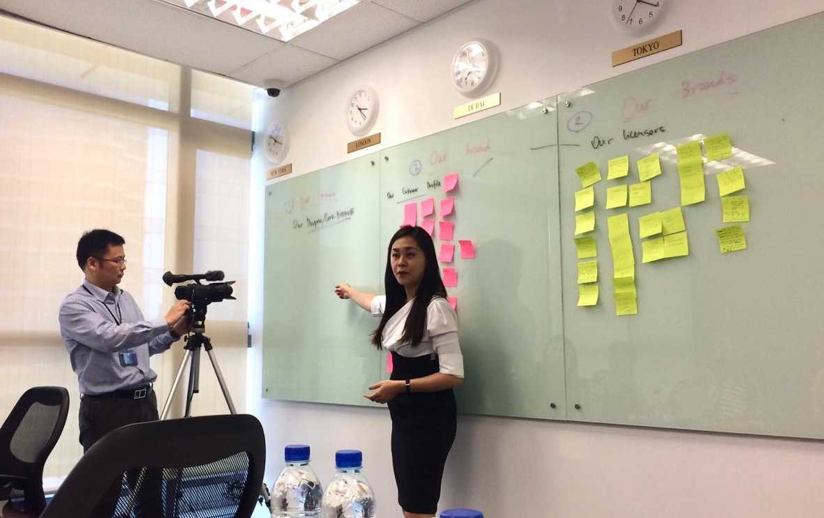 Brand workshop at Oceanic Group
