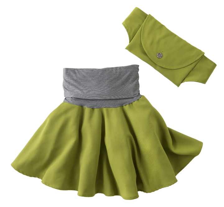 The Aura Skirt in Avocado